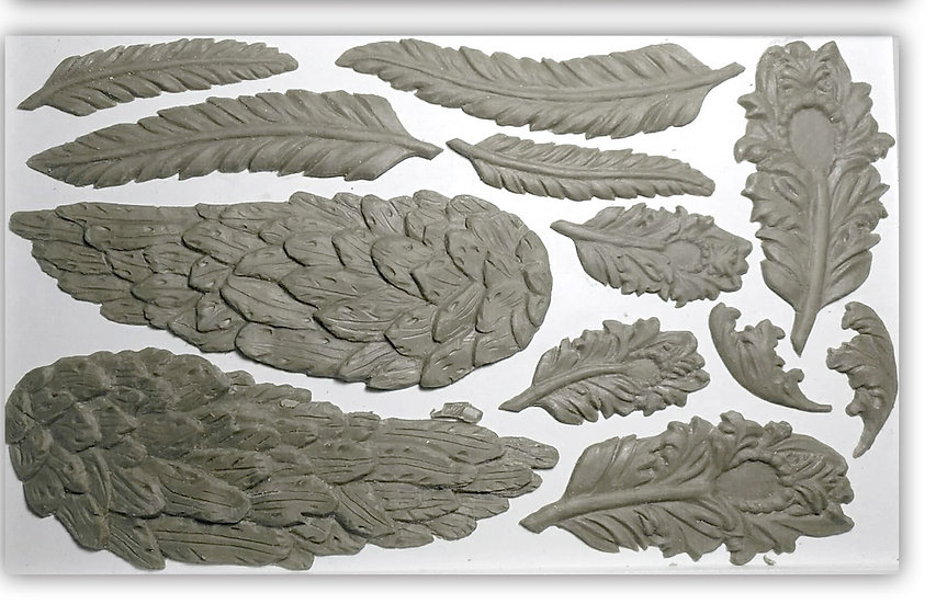 """Wings and Feathers Mould 6"""" x 10"""""""
