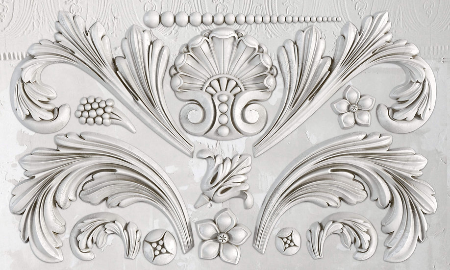 "Acanthus Scroll 6"" x10"" Mould"