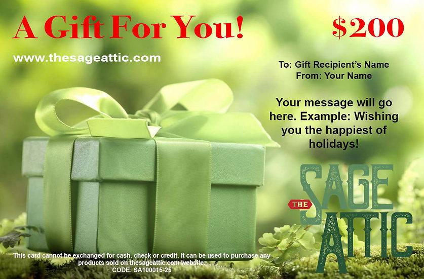 $200 Sage Attic Gift Certificate