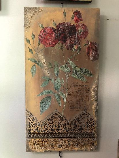 """""""Spanish Desert Rose"""" Art Panel 12"""" x 23.5"""""""