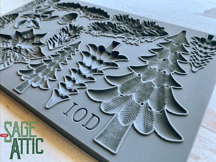 "Boughs of Holly Christmas Mould 6"" x 10"""