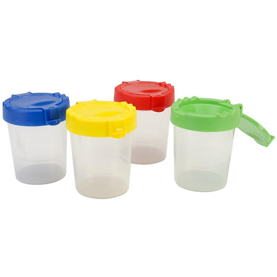 No-Spill Paint Cups with Lids - Set of 4