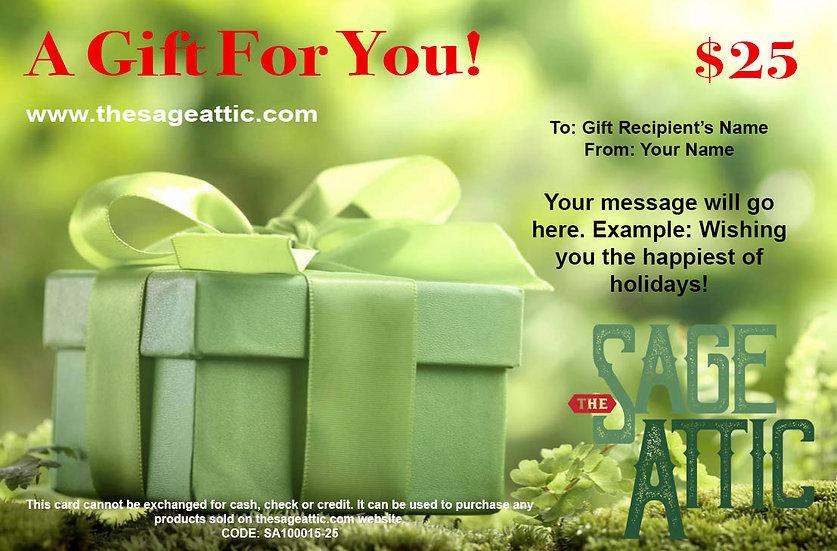 $25 Sage Attic Gift Certificate