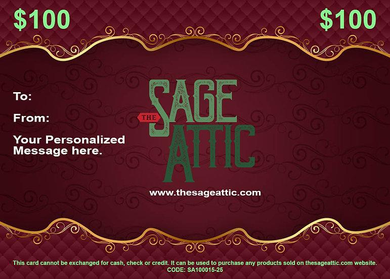 $100 Sage Attic Gift Certificate