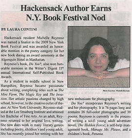 Hackensack author earns NY Book Festival nod