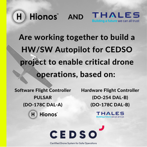 Thales and Hionos are working together to make drones safer
