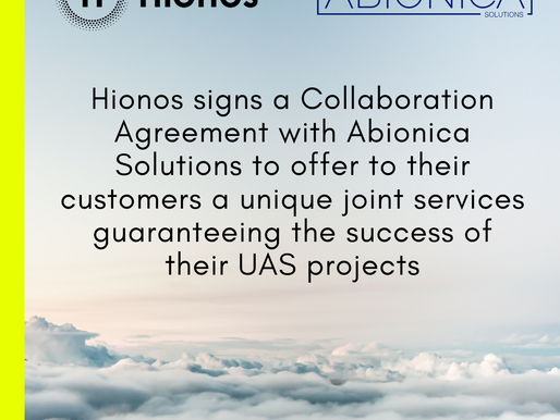 ABIONICA Solutions and HIONOS works together in UAV Certification - Press Release