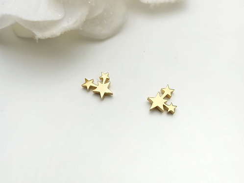 Mini Pendientes  Acero Estrellas
