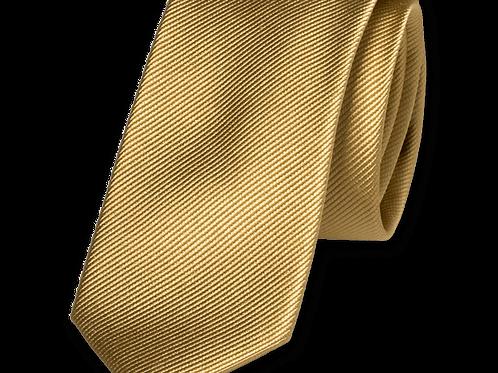 Corbata Oro Estrecha