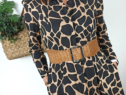 Vestido Largo Animal Print Noa