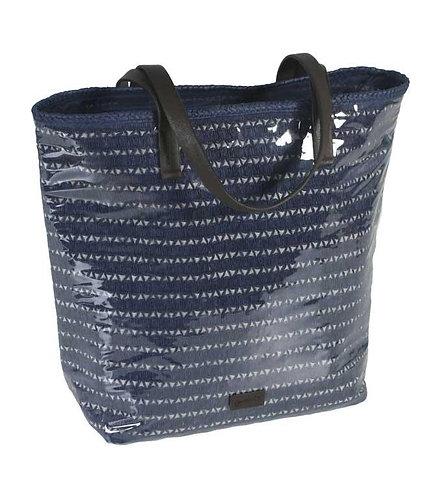 Bolso de Playa Plastificado Azul