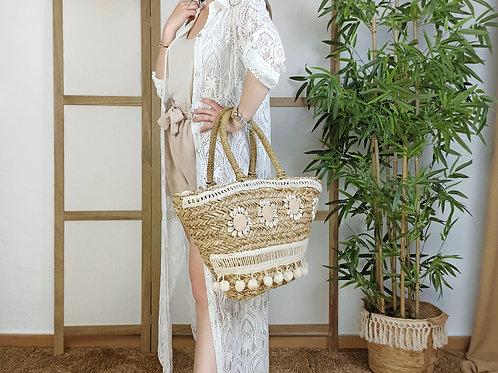 Vestido Encaje Camisero Gala Blanco