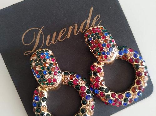 Pendientes Dorados Multicolor