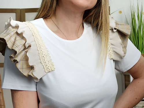 Camiseta Volante Hombro Karen