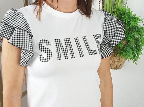 Camiseta Volantes Vichy Smile
