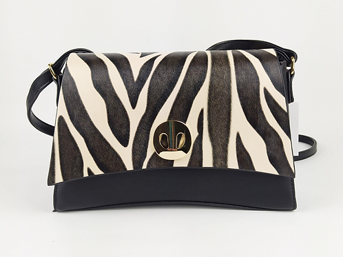 Bolso Zebra Asimétrico Negro