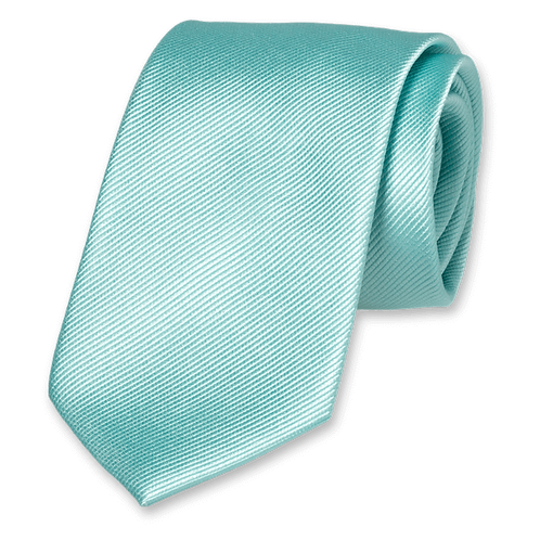 Corbata Verde Agua Estrecha
