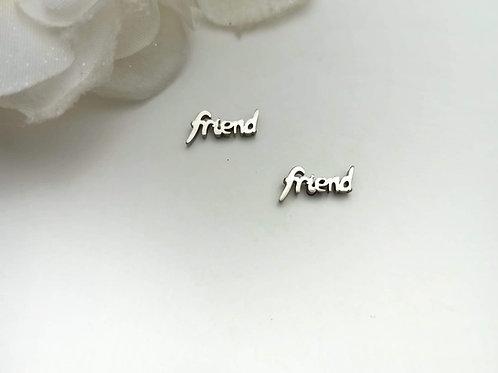 Mini Pendientes  Acero Friend