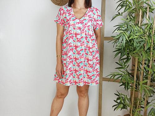 Vestido Mónica Fresa