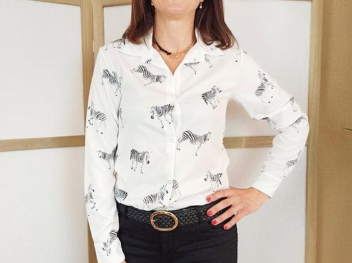 Camisa Safari Cebras.