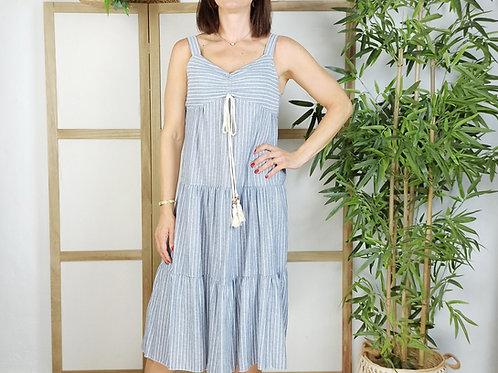 Vestido Rayas Greta Azul
