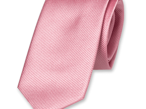 Corbata Rosa Chicle Estrecha
