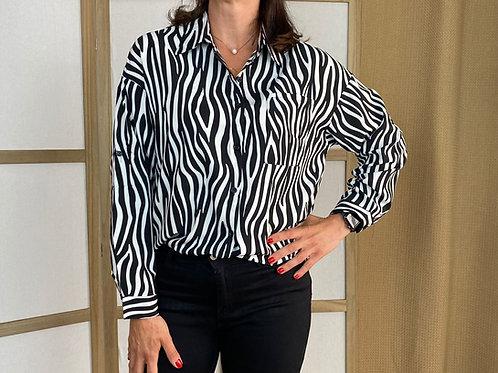 Camisa Blusa Cebra-