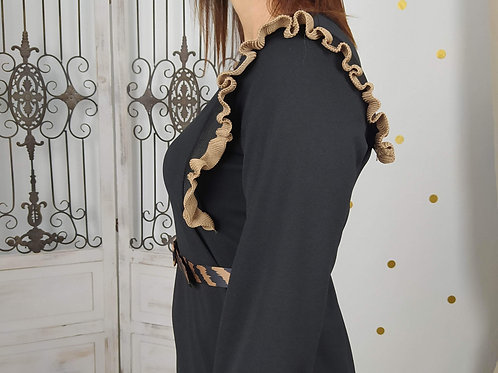 Vestido Crepe Volante Jasmine