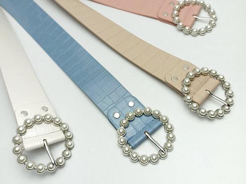Cinturón Grabado Perlas