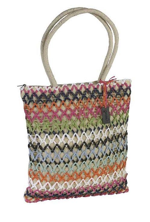 Bolso Shopper Rafia Multicolor