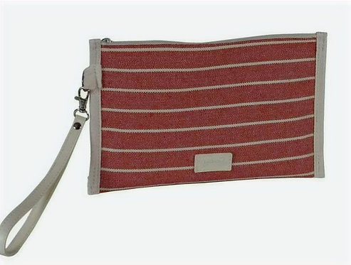 Bolso de Mano- Neceser Rojo Rayas