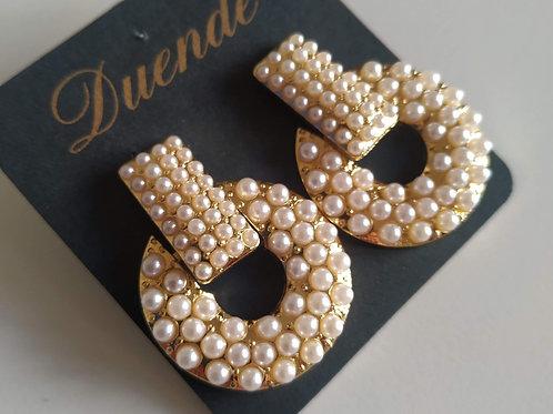 Pendientes Dorados Perla