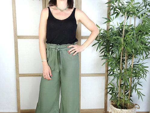Pantalón Palazo Midi Leticia Verde