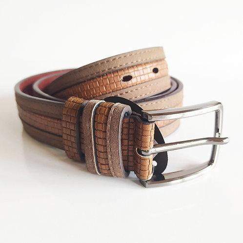 Cinturon Piel Combinado