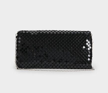 Bolso de Fiesta Aluminio Negro