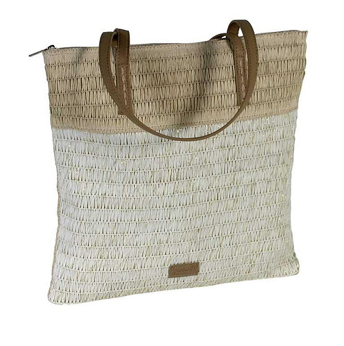 Bolso Shopper Rafia Blanco