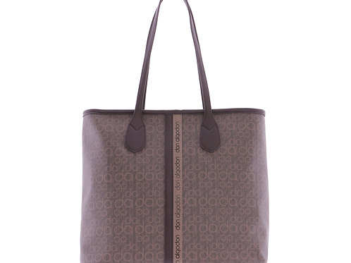 Bolso Shopper D.A. Letras Marrón