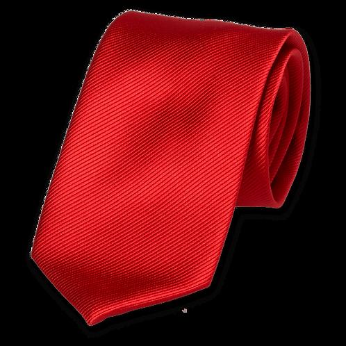 Corbata Rojo Sangre Estrecha