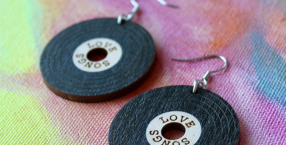 Thank You For The Music Earrings, Love Songs (hook fastening)