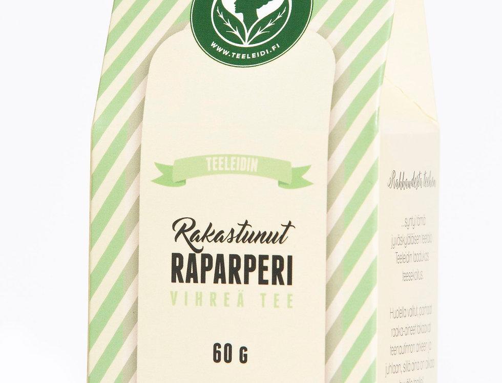 "Rakastunut Raparperi ""In love with Rhubarb"" Green Tea"