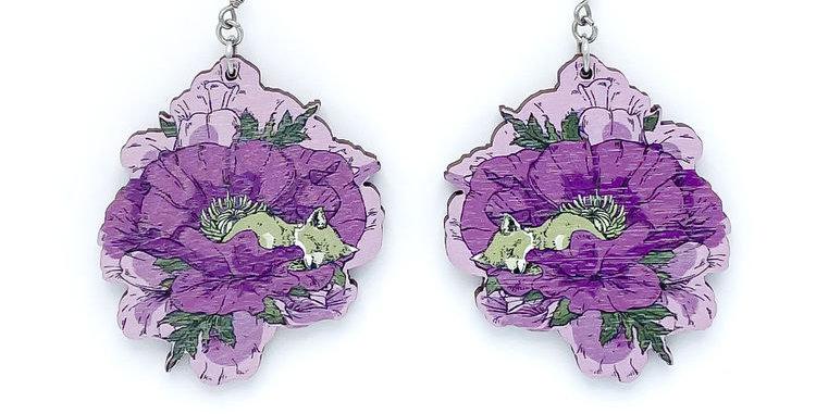 Unikko earrings, purple