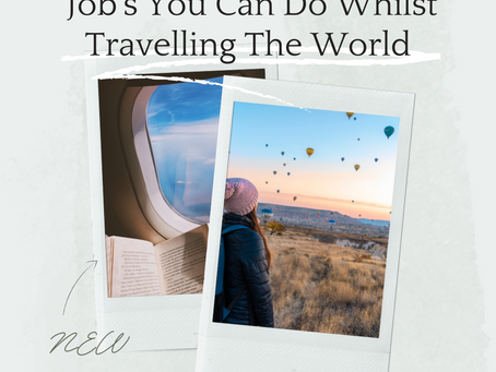 Job's You Can Do Whilst Travelling The World
