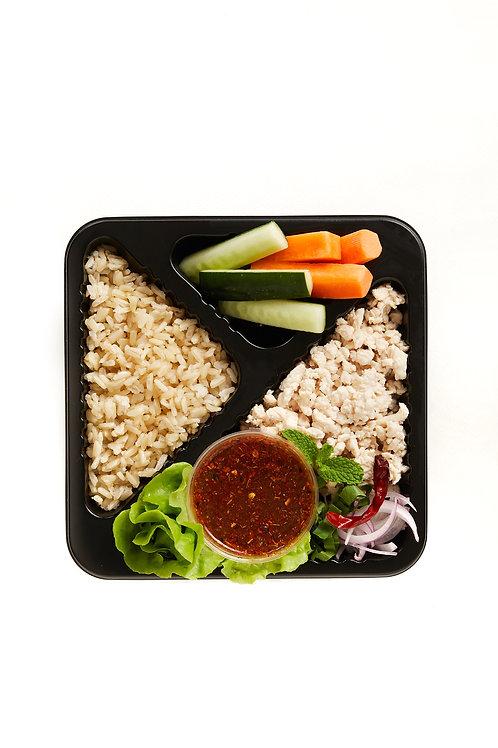 Larb chicken (Spicy minced chicken salad)