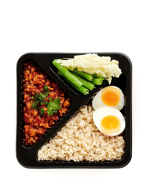 Northern style chilli dip with pork and boiled egg