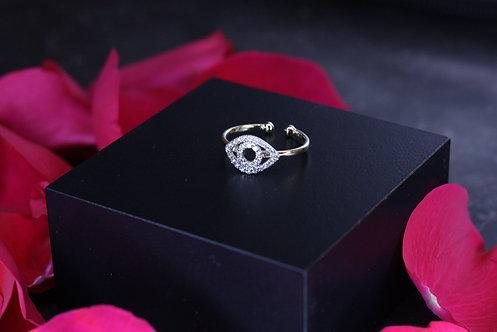 IRENE DANILOVICH - Diamond & Gold Evil Eye Ring