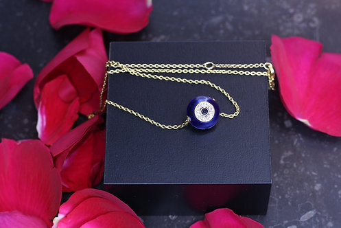 IRENE DANILOVICH - Enamel, Gold & Diamond Evil Eye Necklace