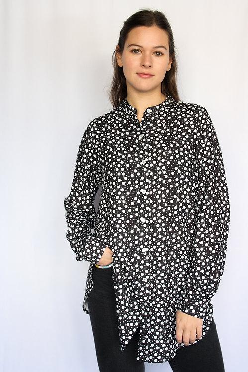 SABINA - Black and White Polka Dot