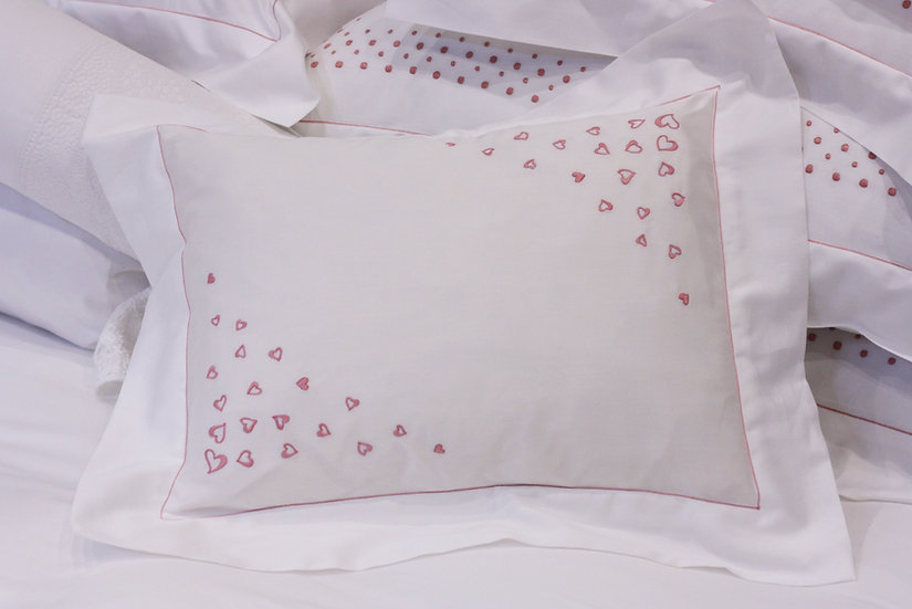 Baby Pillow - Pink Hearts