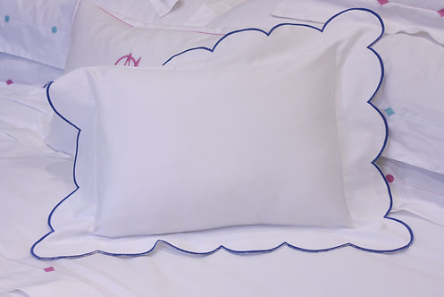 Baby Pillow - Royal Blue Scallop
