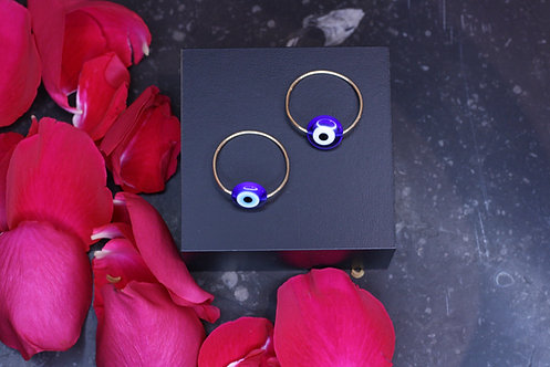 IRENE DANILOVICH - Glass & Yellow Gold Evil Eye Ring Large